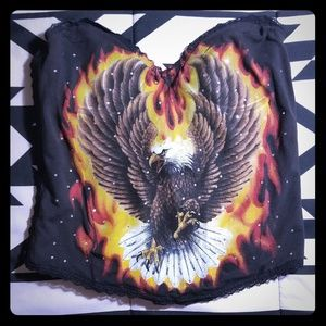 Bejeweled Eagle and Fire Corset 34C